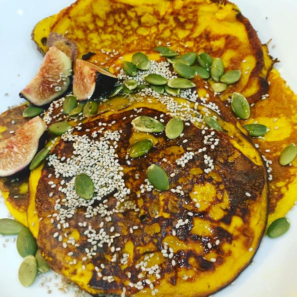 Pumpkin Pancakes. Gluten-Free.