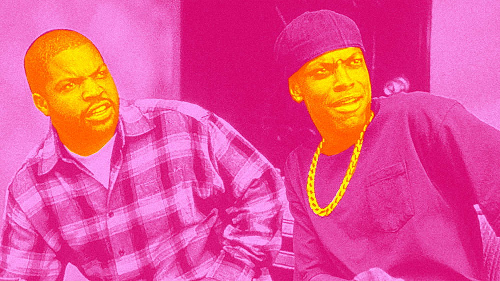photo illustration by Chris / Ice Cube and Chris Tucker in Friday