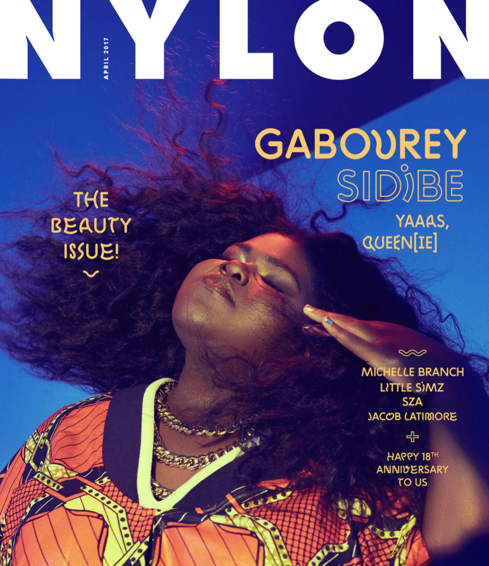 NYLON APRIL 2017 GABOUREY SIDIBE COVER STORY