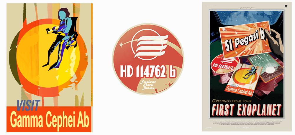 JPL / NASA Exoplanet Travel Posters  Creative Director- Dan Goods; Art Director-David Delgado