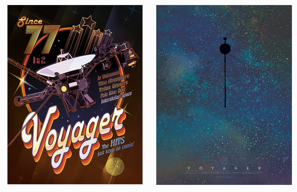 VOYAGER Spacecraft 40th Anniversary Commemorative Posters   https://voyager.jpl.nasa.gov/downloads/