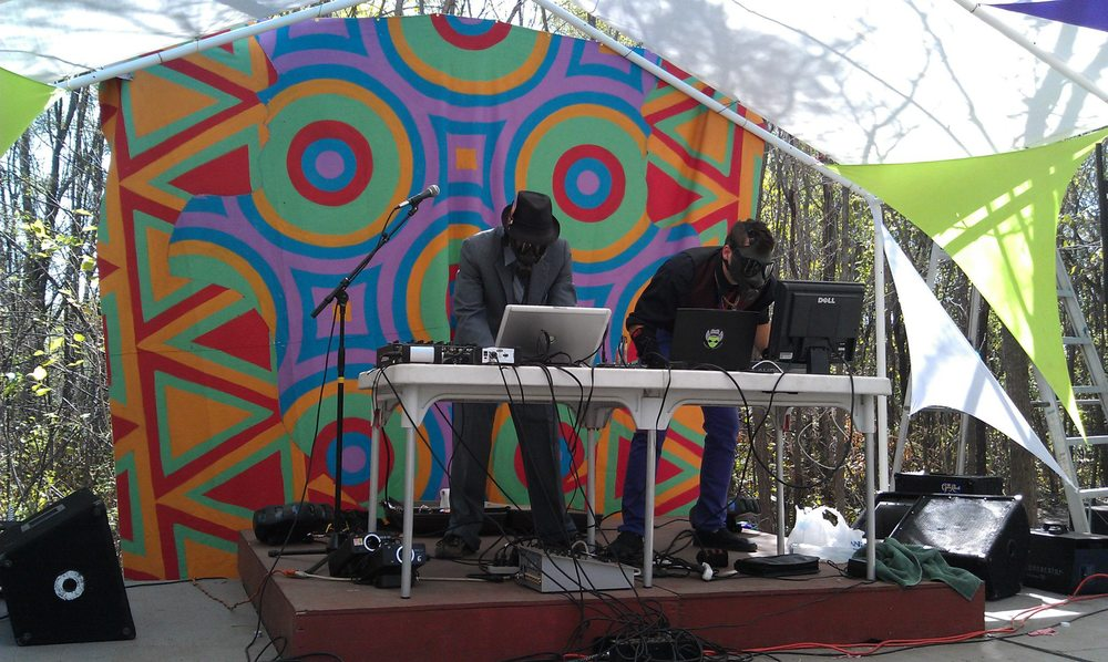 Bobbie Boob performing live at the 2nd Annual Tribal Equinox Festival in Nebraska
