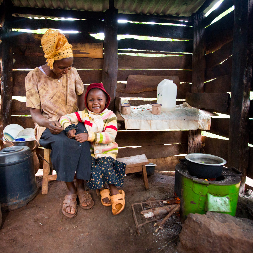 One of the largest killers of women and children in developing countries is from breathing in toxic smoke from   cooking over open fires. TKTKT and her daughter, TKTK are breathing much easier since they got their stove (from Charity's shop!).