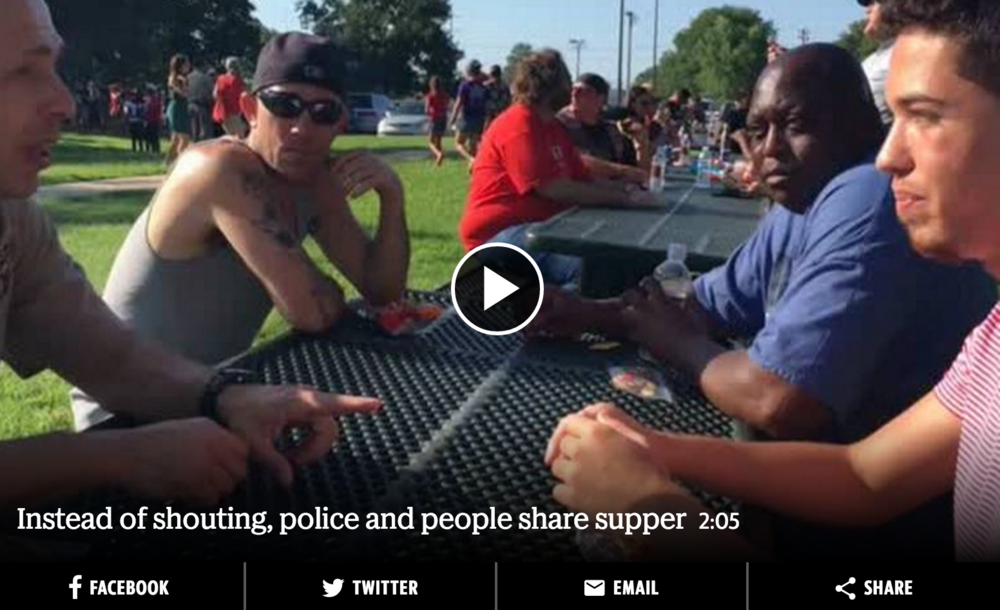 """Black Lives Matter protest in Wichita changed to cookout with police"""