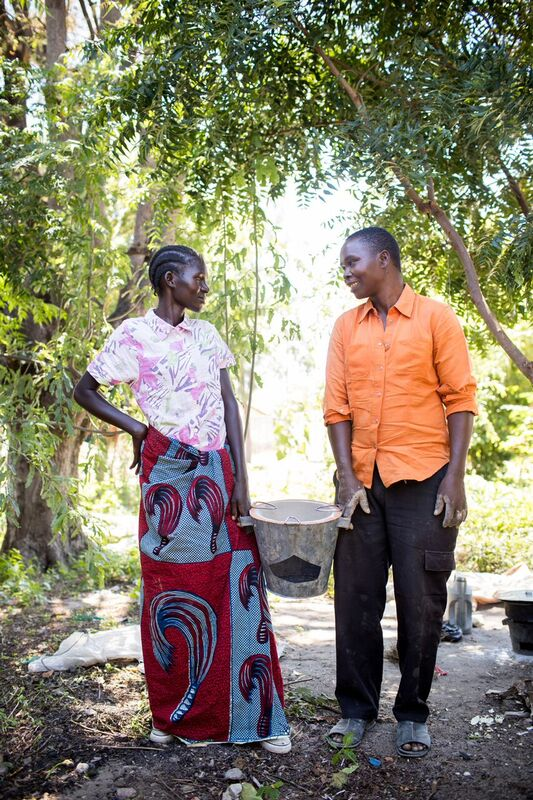Bahati and her husband, Tembo