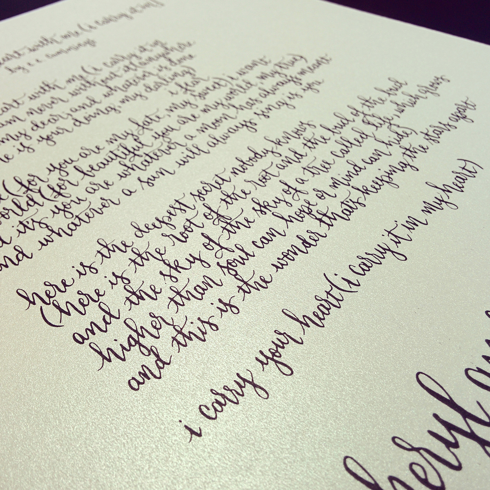 Calligraphy Lyndsay Wright Design Calligraphy Hand