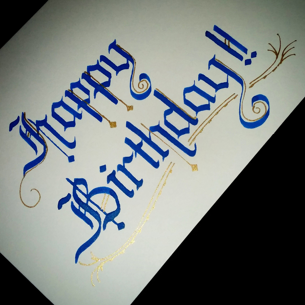 Calligraphy lyndsay wright design hand