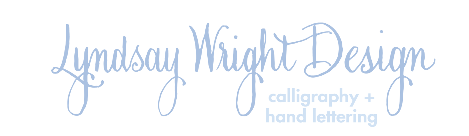 lyndsay wright design | calligraphy + hand lettering