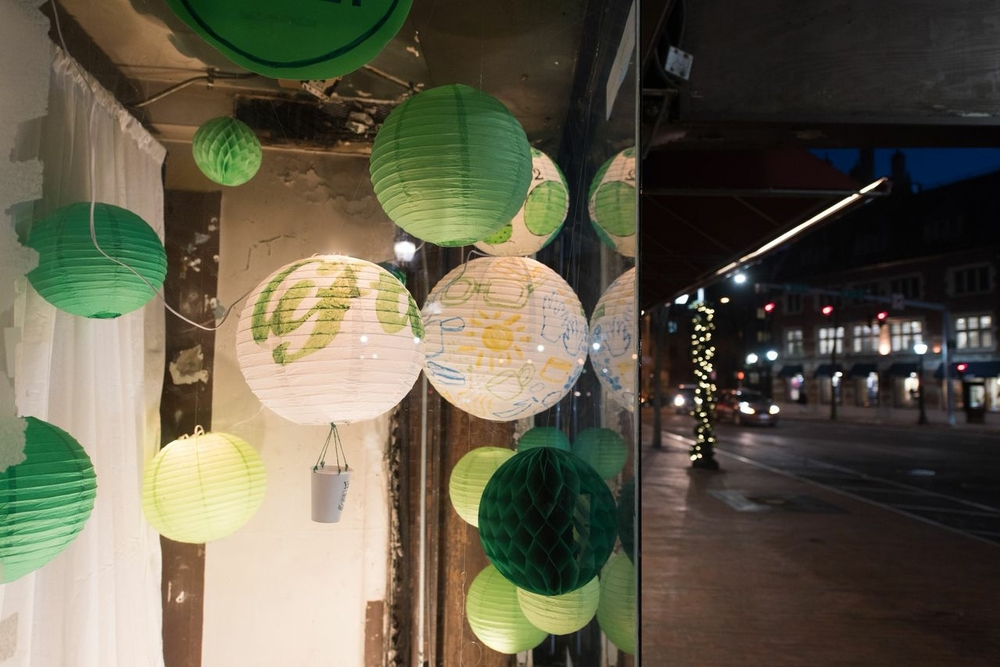 Liftoff is the theme of our newest window display.