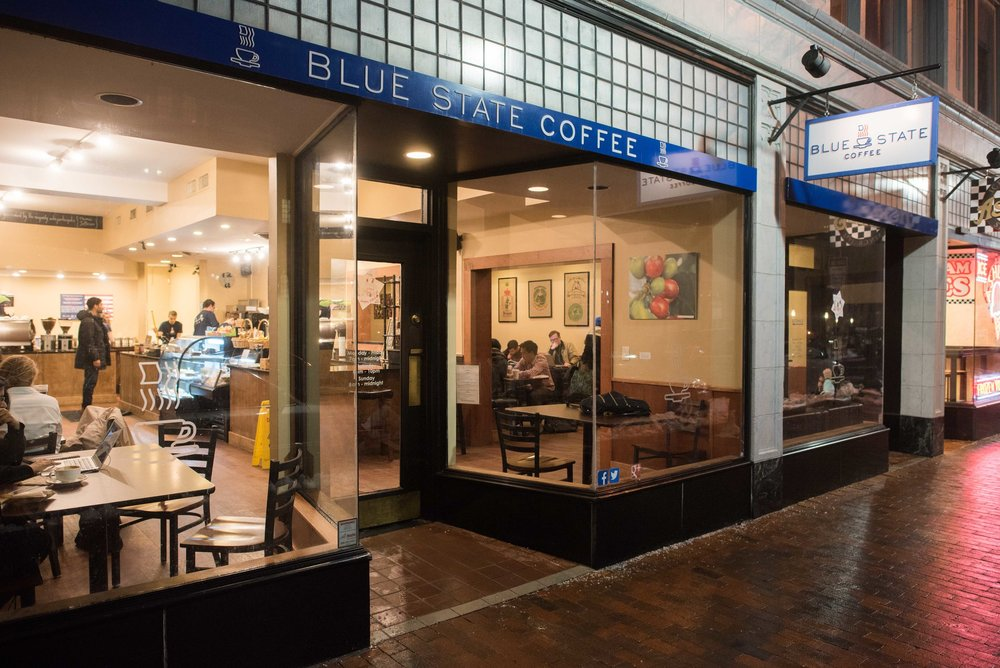 Blue State on York St (right nearby Junzi Kitchen New Haven on Broadway!)