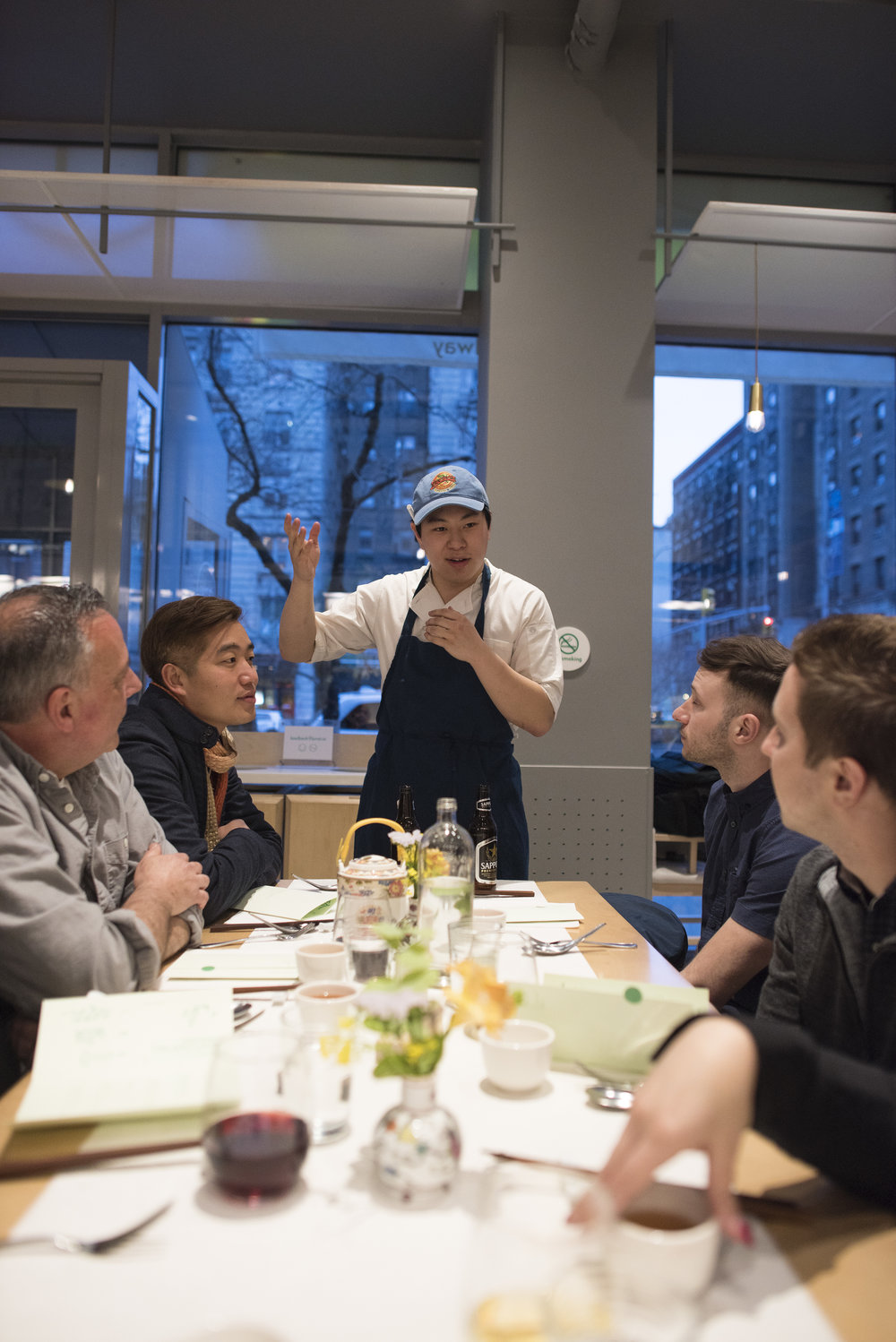 "Chef Lucas describing Hu Sihui's ""A Soup for the Qan"" the book that inspired April's Chef's Table recipes and ingredients."