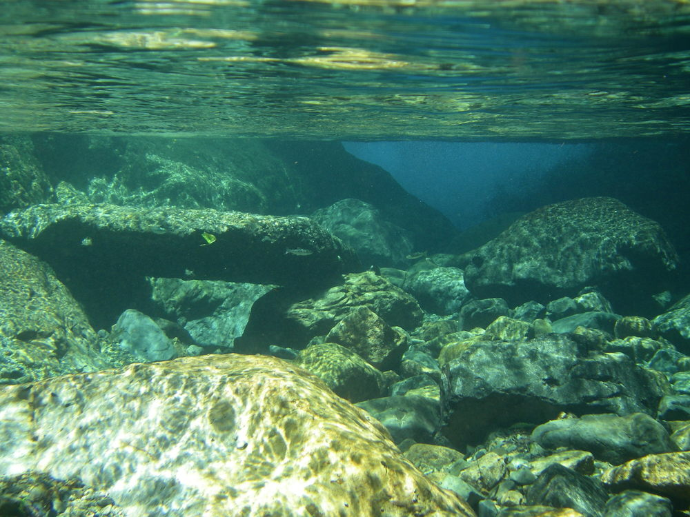 Crystal clear mountain water of the Itadori