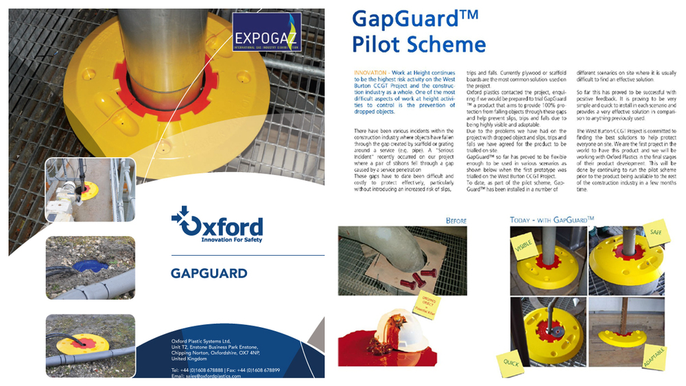 Successfully created and implemented  a new safety device to protect floor apertures on construction sites. Gapguard has been implemented on EDF power stations in the UK, reducing accidents and time spent covering floor apertures.