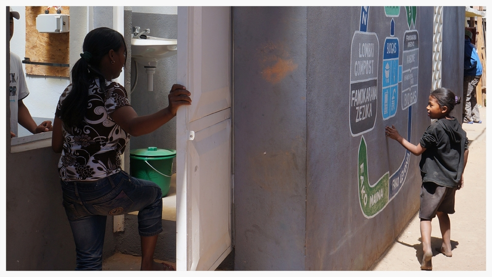 The Loowatt pilot system is a waterless toilet system that uses biodegradable plastic to safely capture and seal waste. The waste is then converted into electricity and fertilizer.
