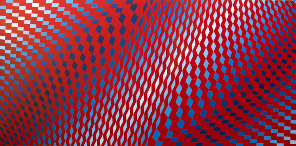 Red Favela          220cm x 110cm          acrylic on canvas          2016