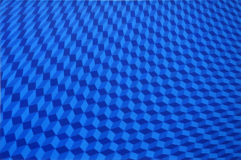 Ripples Blue           60cm x 40cm          acrylic on canvas