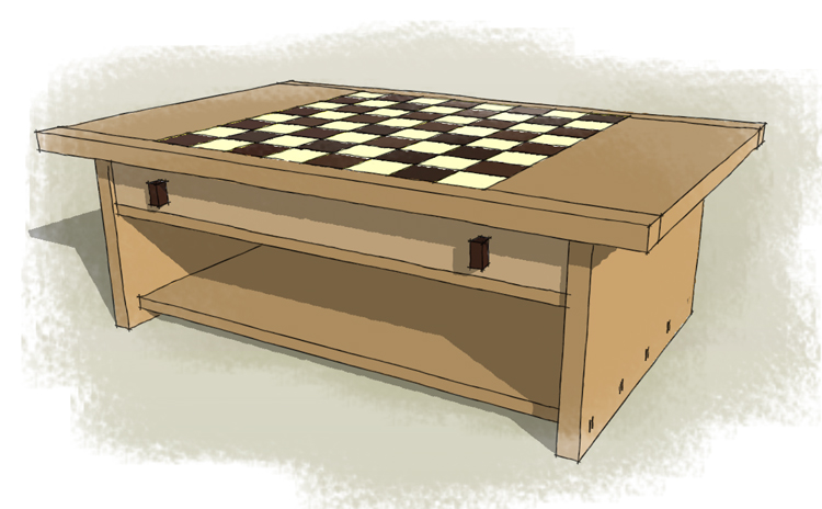 Chessboard Coffee Table Stephen Finch Furniture Maker
