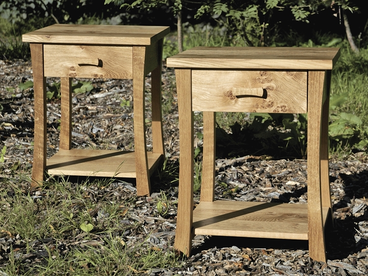 Matching Pair Of Oak Bedside Tables
