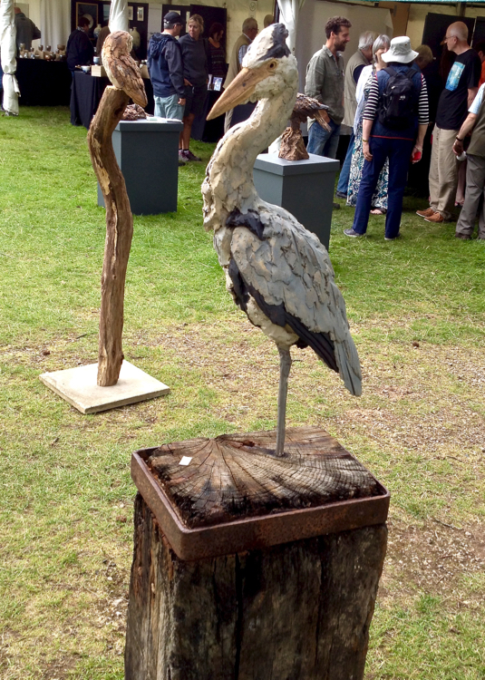Lifesize Heron on Dock Piling