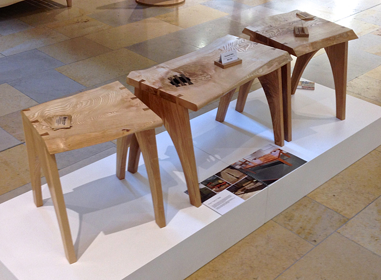 Natural edge coffee table in Ash