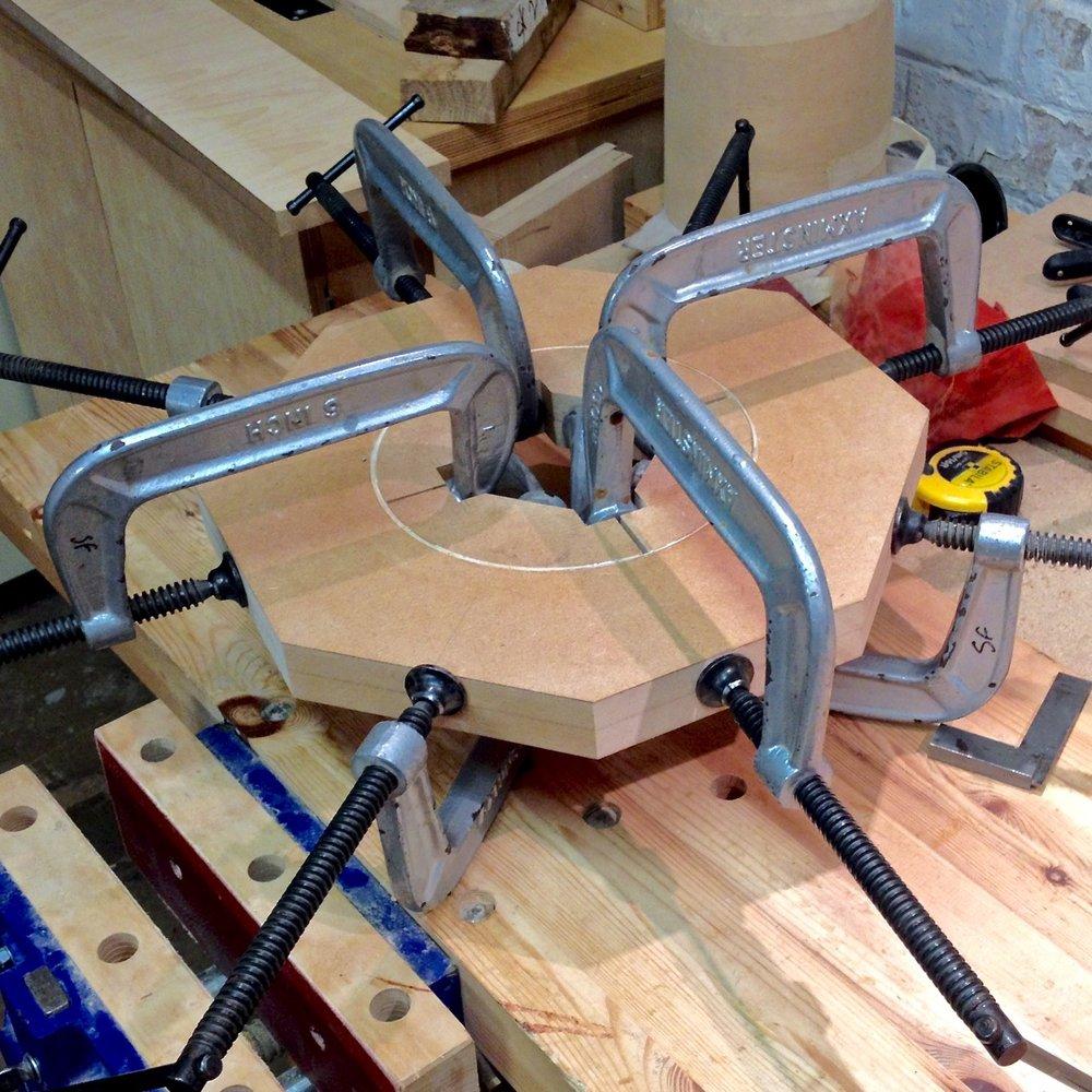 Wood veneer hoops