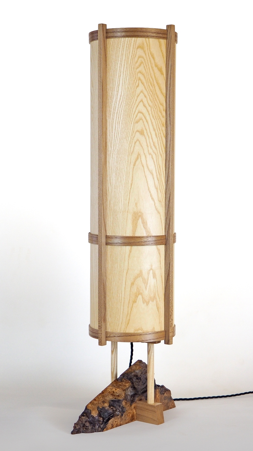 Ash Veneer Lamp with Elm base.jpg