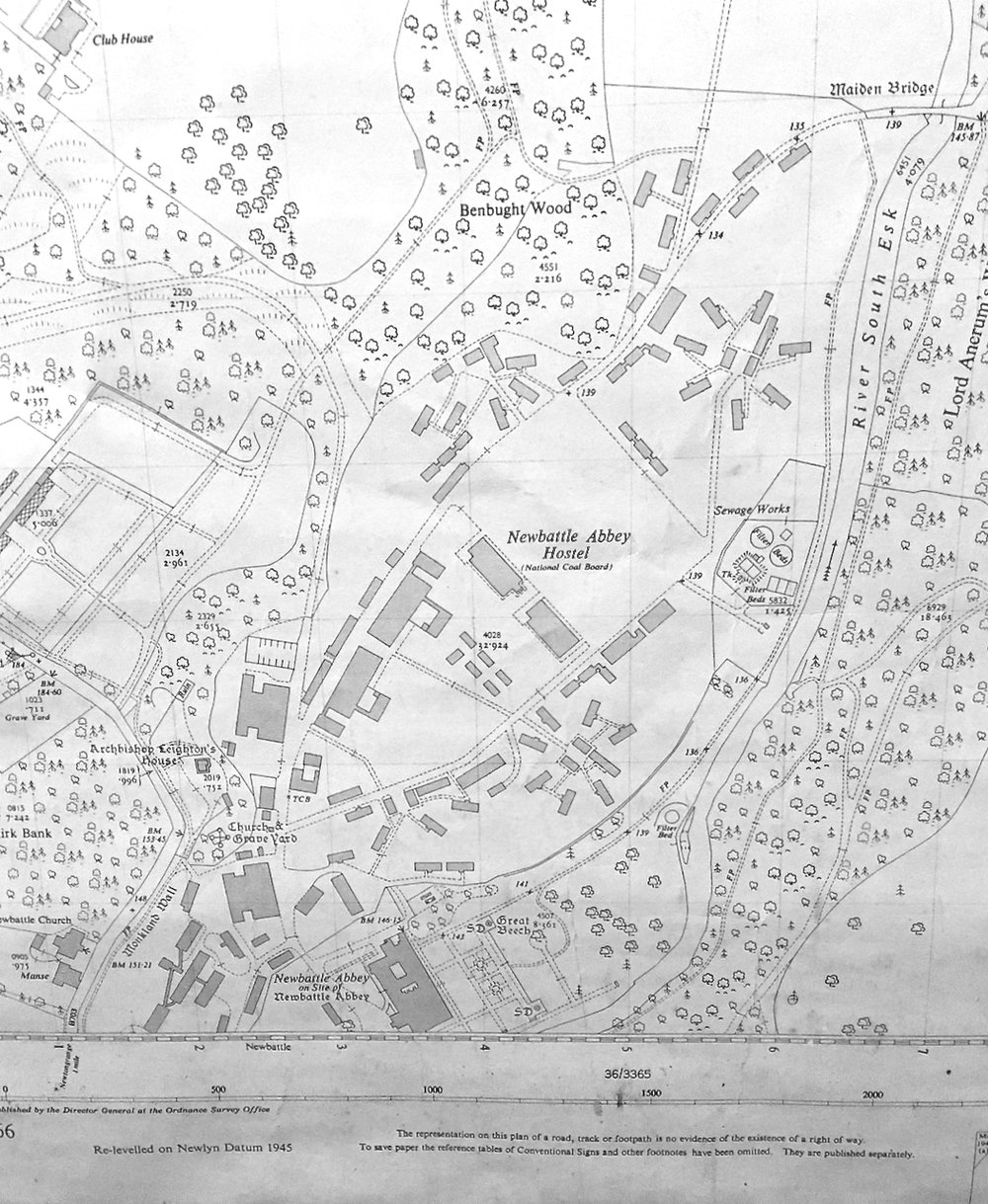 1945 map showing full camp layout