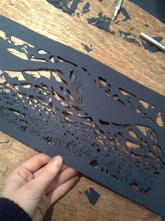 "I was thrilled to be invited to Panasonic's project ""Cut Out the Darkness"". Panasonic has invited 11 paper artists to make paper cut designs for what will become 100,000 lasercut solar lanterns. The lanterns will be donated around the world, to people living without electricity. Artists include:  Jonathan Chapman, Elaine Penwell, Xin SongHina Aoyama, AnnaHowarth, Bovey Lee, Elaine Penwell, Elod Beregszaszi, Julene Harrison, Kako Ueda, Mayuko Fujino . If you want to take part they are taking submission, just visit:  cotd.panasonic.net"