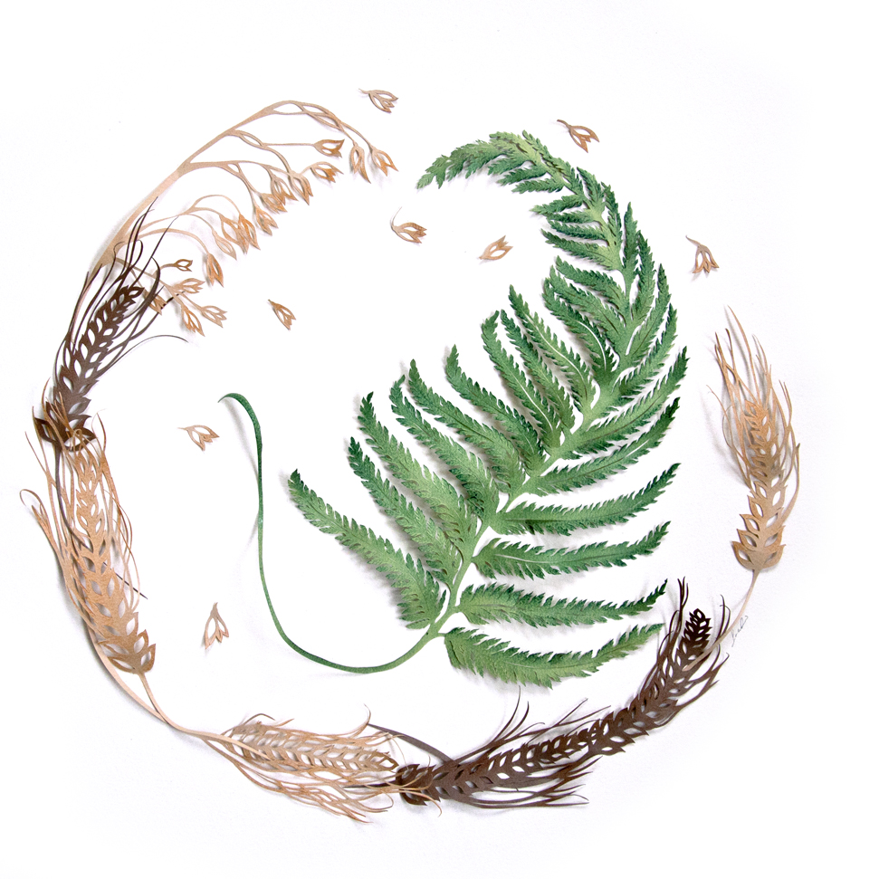 Wedding artwork- Fern, Oats and Wheat