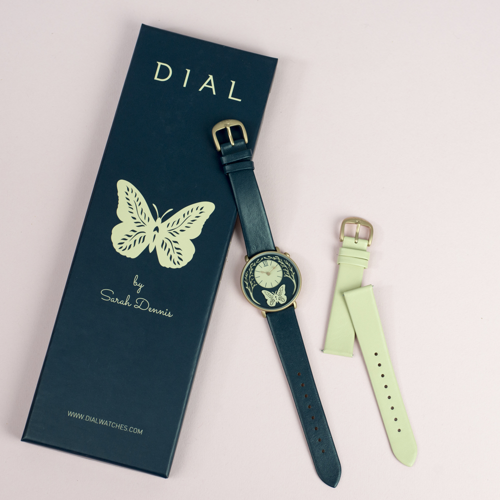 Photography:Holly Booth  I have been involved in an exciting project with the team at DIAL to design and create a watch face for the company's new range. I have used my paper cut style to create this unique design for them, it will be on sale from early November. DIAL are a British brand who collaborate with artists to produce watches inspired by creativity.