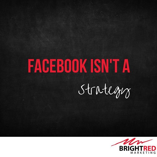 "Facebook isn't a strategy. It's a marketing channel. What you do with it is incredibly important.  So many people say ""Facebook ads"" don't work. But when diving into what they were doing, we discover that they were running brand awareness campaigns when they wanted a lead gen campaign.  Advertising on Facebook isn't enough - you need to have a clearly defined strategy.  Who's guilty of getting so excited by an ad you forget the strategy? I know I am 🙋🏼"