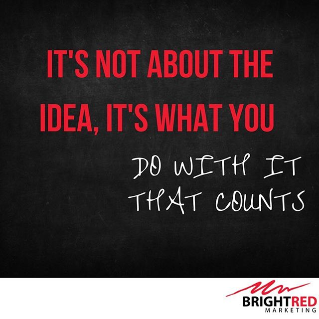 Trouble tap if you agree.  Everyone has a great idea, but being able to execute it well. That's what counts.