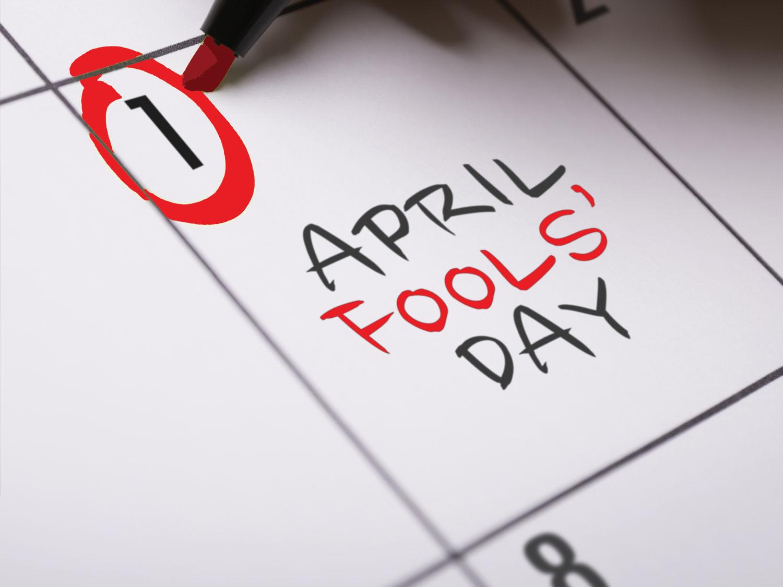 Red april its alert fools day catalog photo