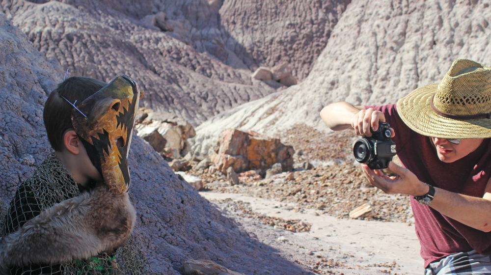 Shooting at Blue Mesa in The Petrified Forest National Park