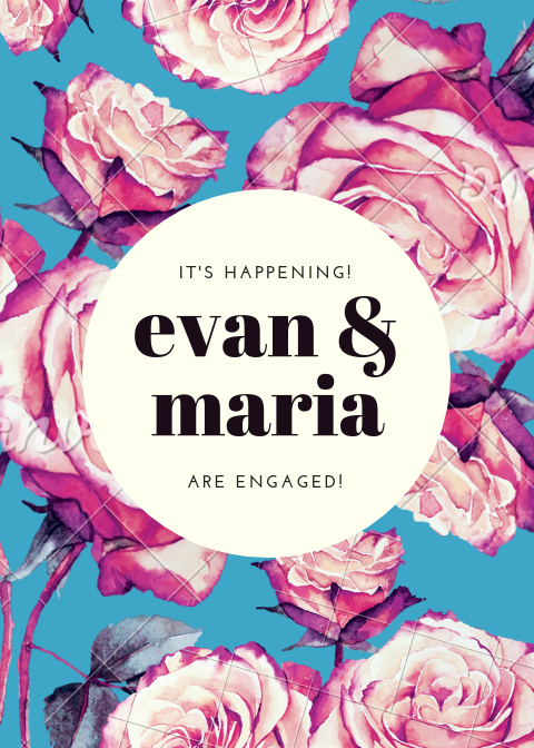 Blue Pink Roses Engagement Announcement.png