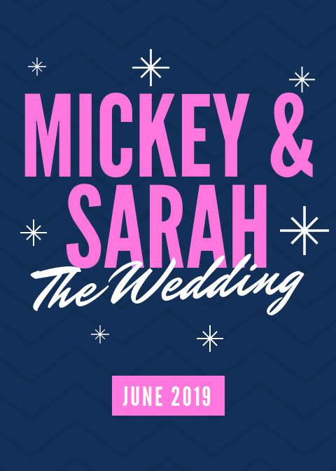 Blue Pink Sparkles Wedding Announcement.png