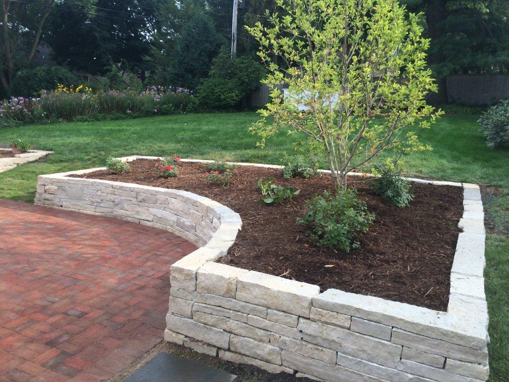 Stone Landscape Retaining Walls - Nakoma - Madison, WI