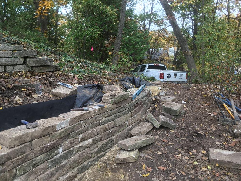 Landscape Retaining Wall Repair - Madison, WI