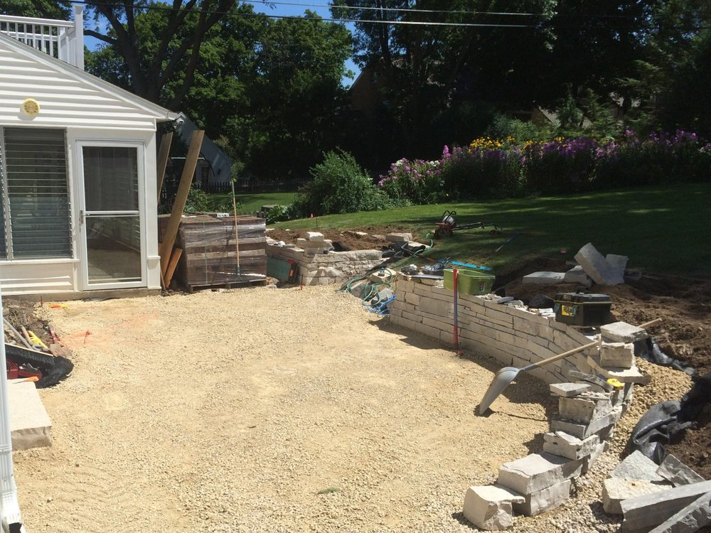 During - Backyard Renovation - Nakoma - Madison, WI
