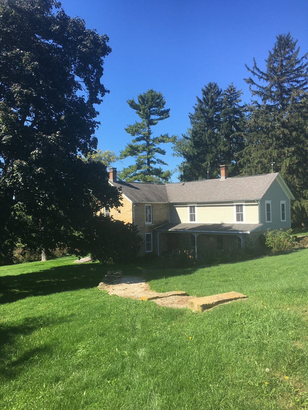 Historic Farmhouse Landscape - Before