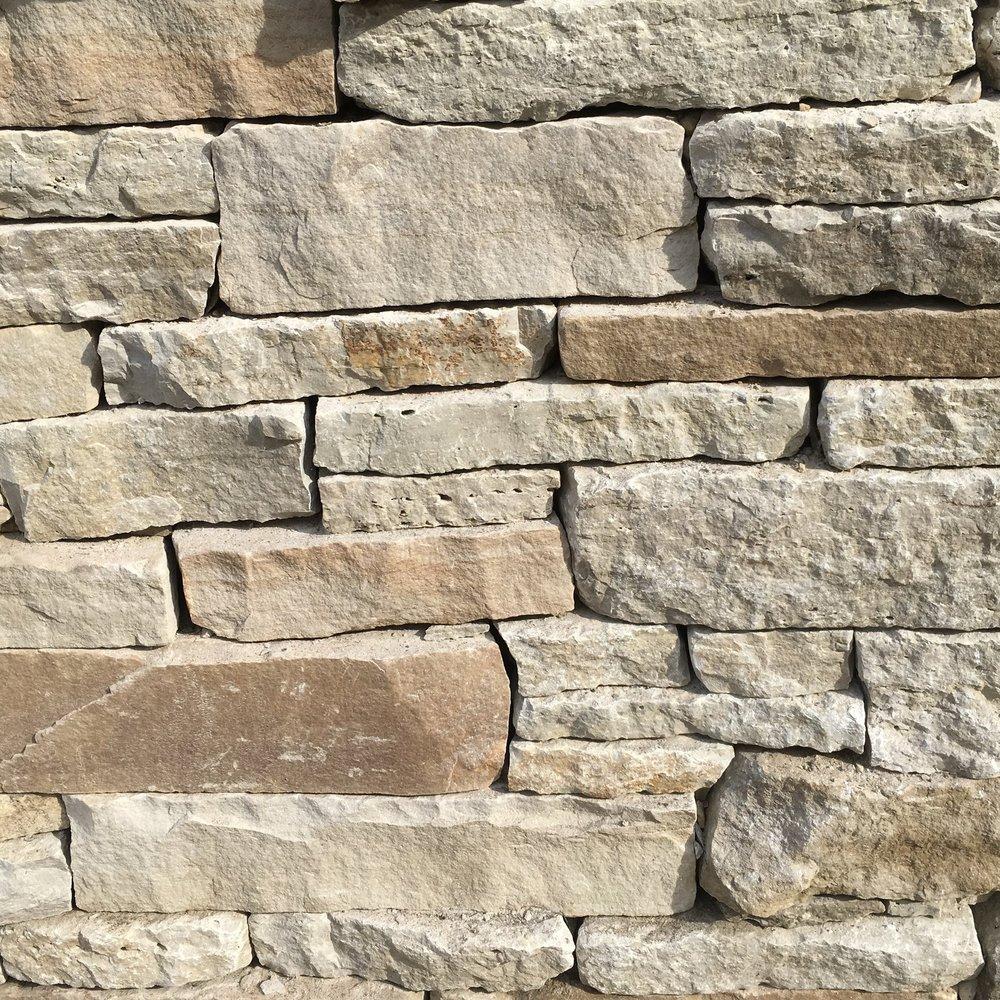 Stone Retaining Wall - Mixed Sedimentary Stone