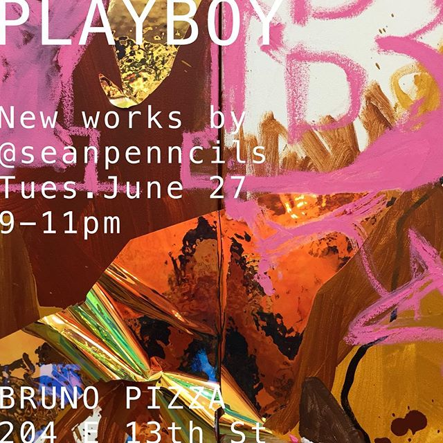 Showing some new paintings tomorrow at @brunopizzanyc - thanks @anna.pizza