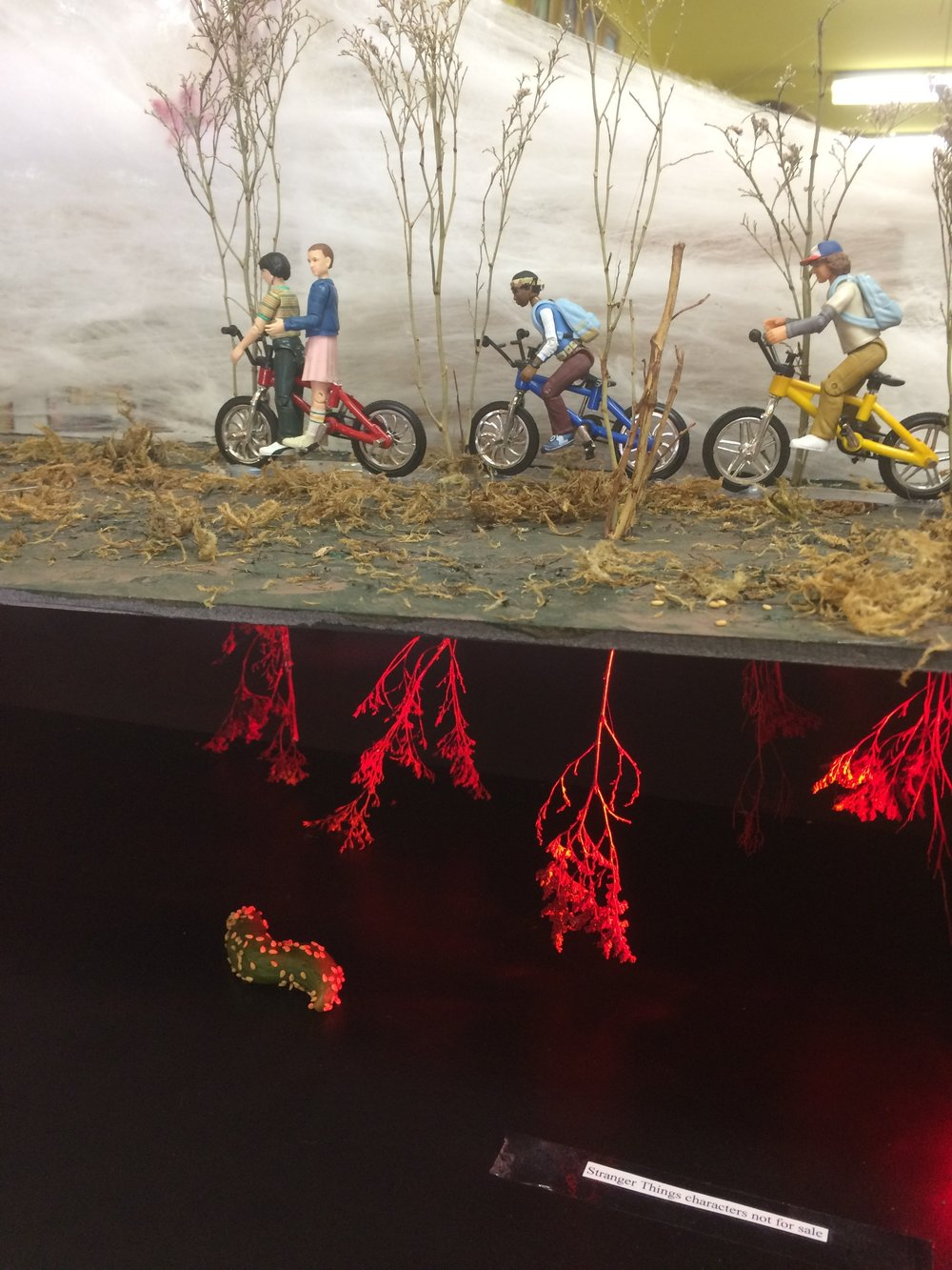 Stranger Things diorama at Archie McPhee's!