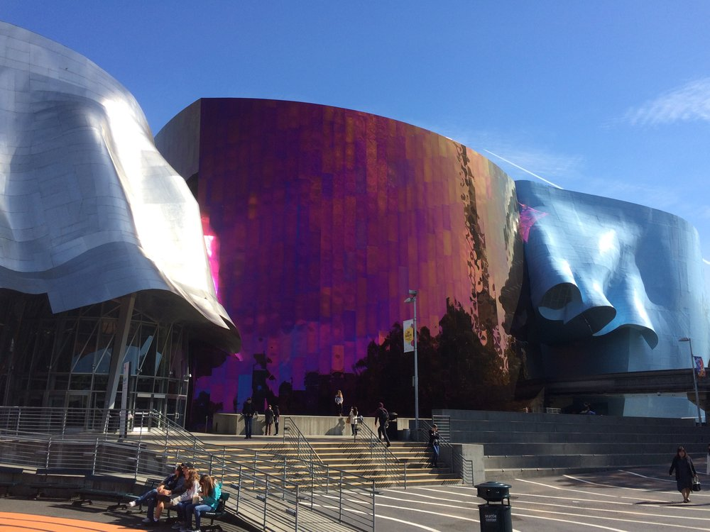 Frank Gehry designed Museum of Pop culture.