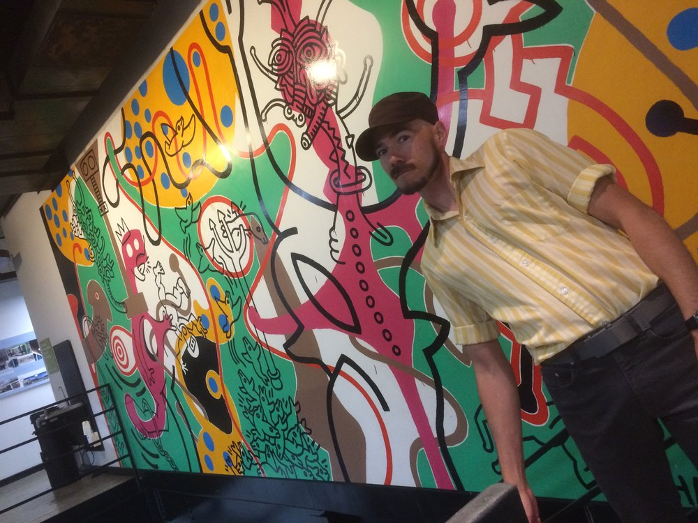 Found one of Keith Haring's last murals!