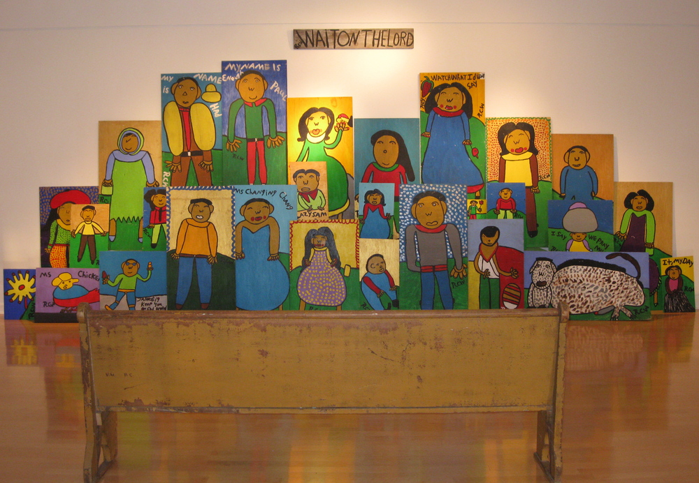 Community Choir assembled for  Family, Farming and Folk Art - Ruby C. Williams and the Bealsville Story  in Gallery 221 at Hillsborough Community College in Tampa.