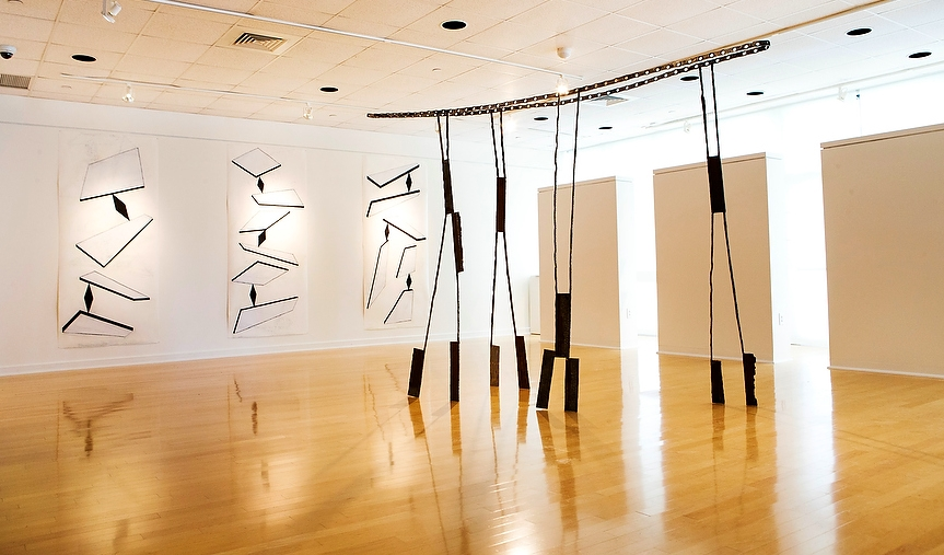 Flying Buttress, sculpture by Dominique Labauvie as photographed in Gallery 221@HCC by Edward Linsmier.