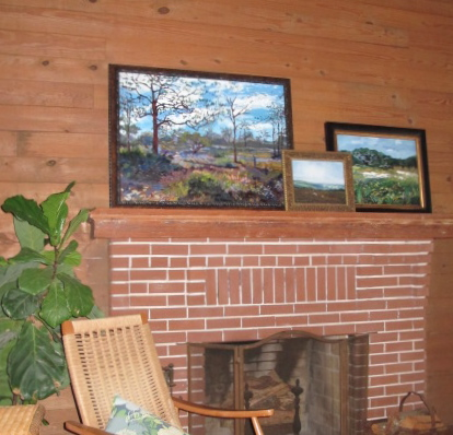 Oil on canvas landscapes by Blair Updike; write kg@arthouse3.com for pricing