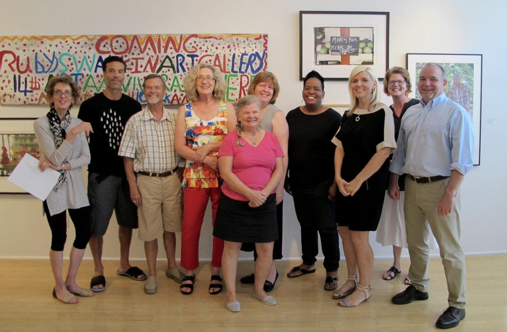 "A great group of Artists and Curators attending ""Guava in the Groves"" 