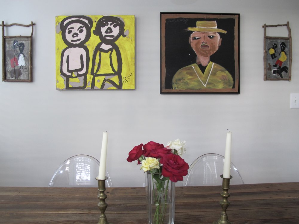 Folk Art grouping installed for Tampa collectors